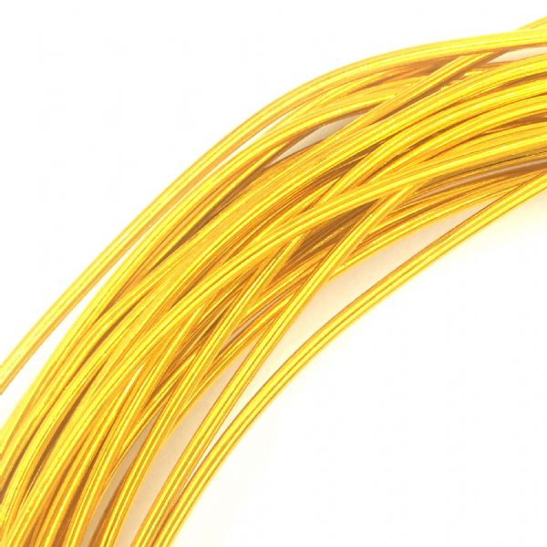 Aluminium wire - 10 metre coil - thickness 1mm - colour gold